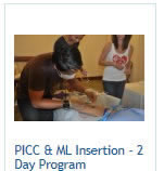 picc training, picc line classes 2 day workshop, includes midline training